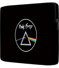 capa para notebook pink floyd 15 polegadas com bolso - unissex