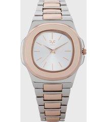 reloj plateado-rosa versace 19.69
