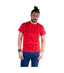 camiseta mister fish estampado adventure vermelho