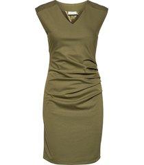 india v-neck dress dresses everyday dresses grön kaffe