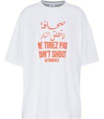 don't shoot' slogan t-shirt