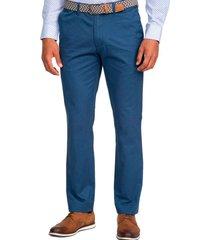 pantalón semi formal azul guy laroche