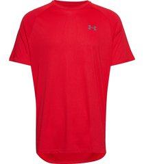 ua tech 2.0 ss tee t-shirts short-sleeved röd under armour