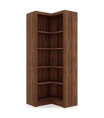 armário de canto me4132 tecno mobili nogal videira marrom
