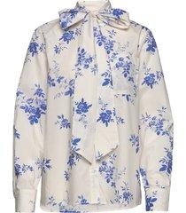 halina blus långärmad vit custommade