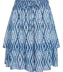 rok met tie dye print ysa  blauw