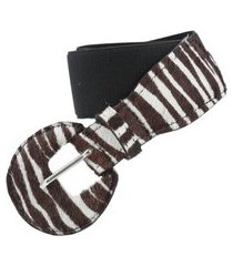 bauarte - cinto de camurça animal print com elástico bauarte - cinto de camurça animal print com elástico preto