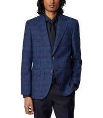 boss men's jawen medium blue jacket