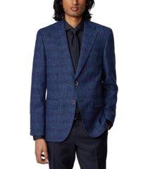boss men's jawen medium blue jacket