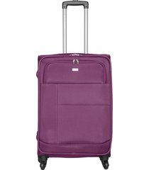 maleta de viaje grande en lona con cuatro ruedas giratorias 94871