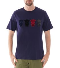emporio armani manga bear t-shirt |blu| 6g1td2-1j91z 932