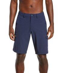 men's tommy bahama cayman isles cargo hybrid board shorts, size 36 - blue