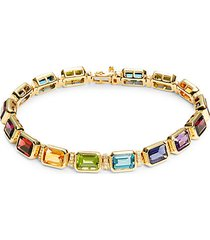 14k yellow gold & multi-stone bracelet