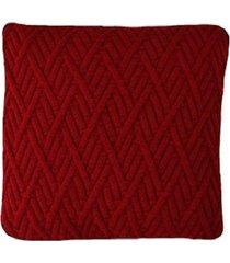 capa almofada tricot 45x45cm c/zãper sofa trico cod 1025 vermelho - vermelho - feminino - dafiti
