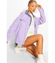 oversized jean jacket, lilac