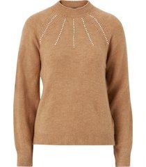 tröja vmpeppy pearl ls highneck blouse