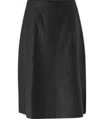 skinnkjol slfmarla hw midi leather skirt