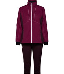 murto w+ xct softshell set outerwear sport jackets lila halti