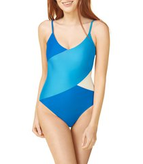 women's summersalt the marina one-piece swimsuit, size 16 - blue