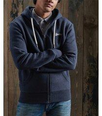 superdry men's orange label classic zip hoodie