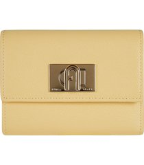 furla twist-lock french wallet