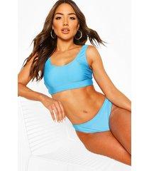 basic crop bikini, blue