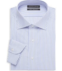 slim-fit stripe cotton dress shirt