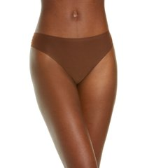 chantelle lingerie soft stretch thong in walnut at nordstrom