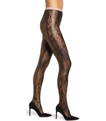 women's gucci floral metallic tights