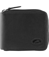 mancini manchester collection men's rfid secure zippered wallet with coin pocket