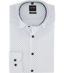 mouwlengte 7 overhemd olymp wit printje