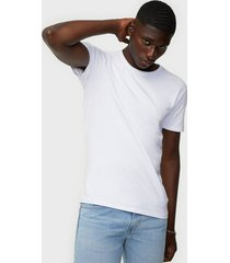 selected homme slhnewpima ss o-neck tee b 3 pack n t-shirts & linnen vit