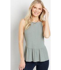 maurices womens solid tiered babydoll top green
