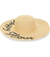 happy hour-print floppy hat