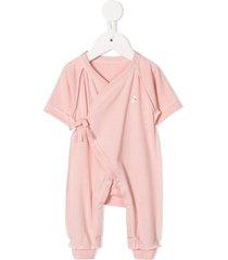 familiar wrap style romper - pink