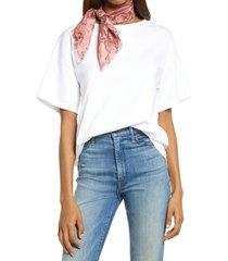 women's treasure & bond print square silk scarf, size one size - pink