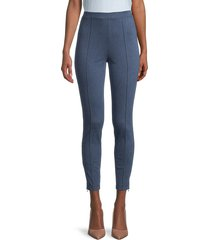 st. john women's cropped ponte pants - navy - size m
