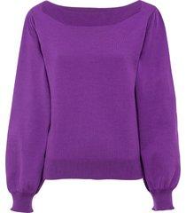 maglione con maniche a sbuffo (viola) - bodyflirt