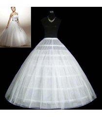 6-hoop 2layer white petticoat wedding gown crinoline petticoat skirt slip/3-hoop