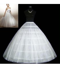 6-hoop 2layer white petticoat wedding gown crinoline petticoat skirt slip/3-hoop