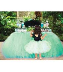 any color table tutu skirt rainbow table tulle skirt tutu tulle table decoration