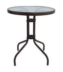 mesa redonda de jardim rio marrom 60 cm