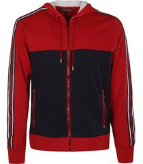 michael kors side stripe logo hooded jacket