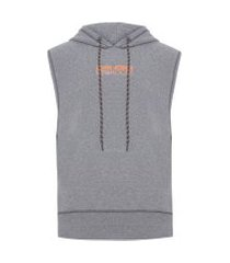 colete masculino gym melange - cinza