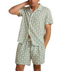 guess men's originals regular-fit geo-print camp shirt
