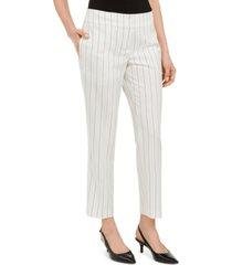 kasper pinstripe slim-ankle dress pants