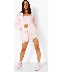 gingham onderjurk en blouse, pink