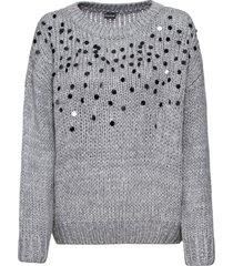 maglione con paillettes (grigio) - bodyflirt