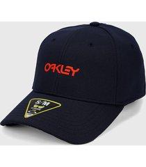 gorra azul navy-naranja oakley universal