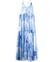 la robe mistral floral blue maxi dress
